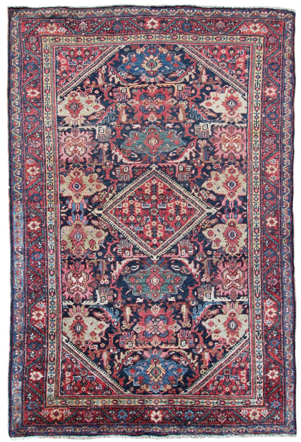 antique mahal rug persian circa 1910