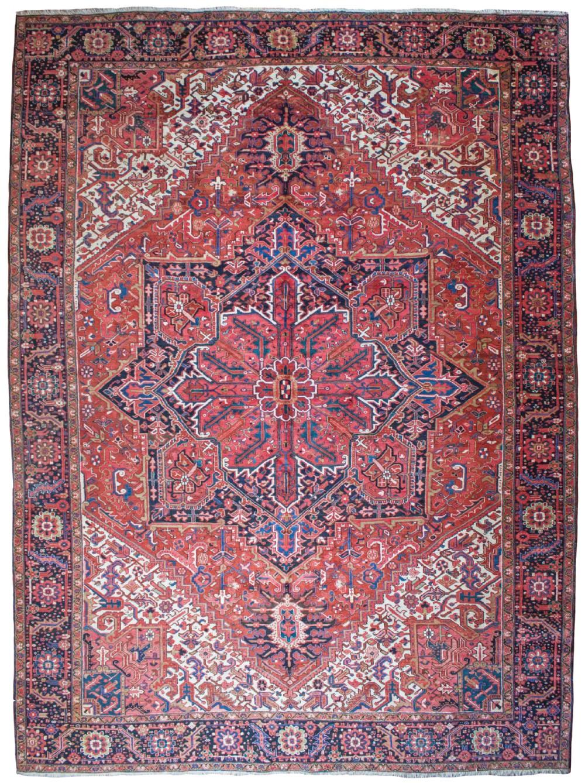 old heriz carpet persian