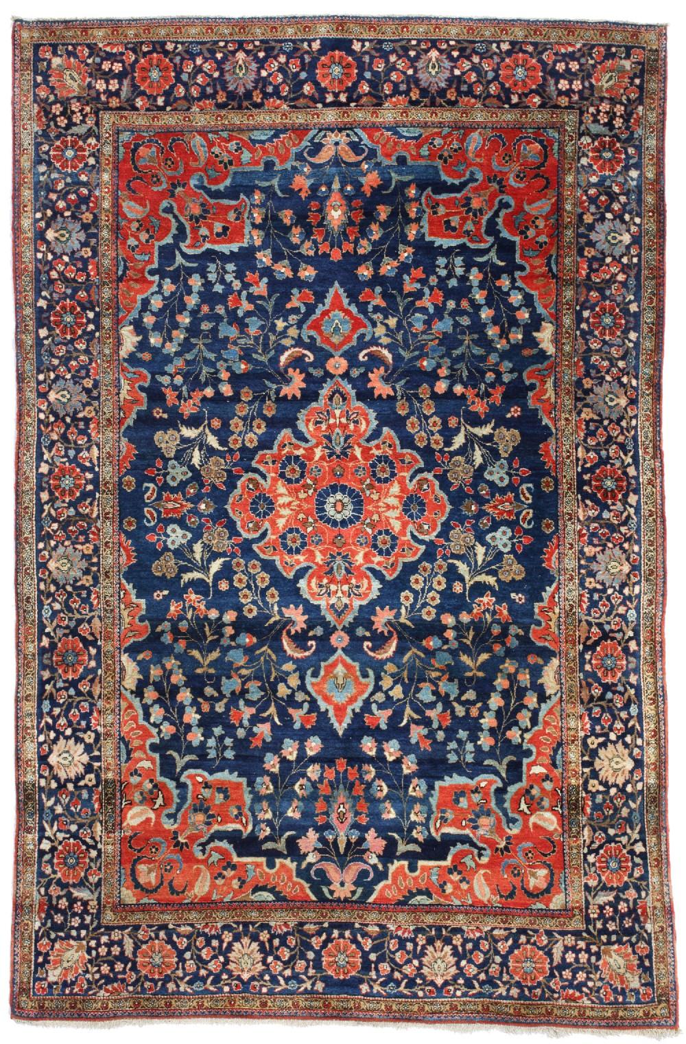 antique kurk kashan rug persian