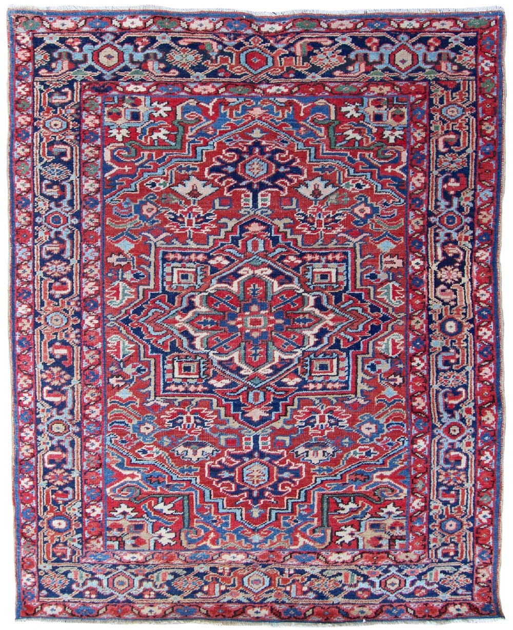 antique heriz rug persia