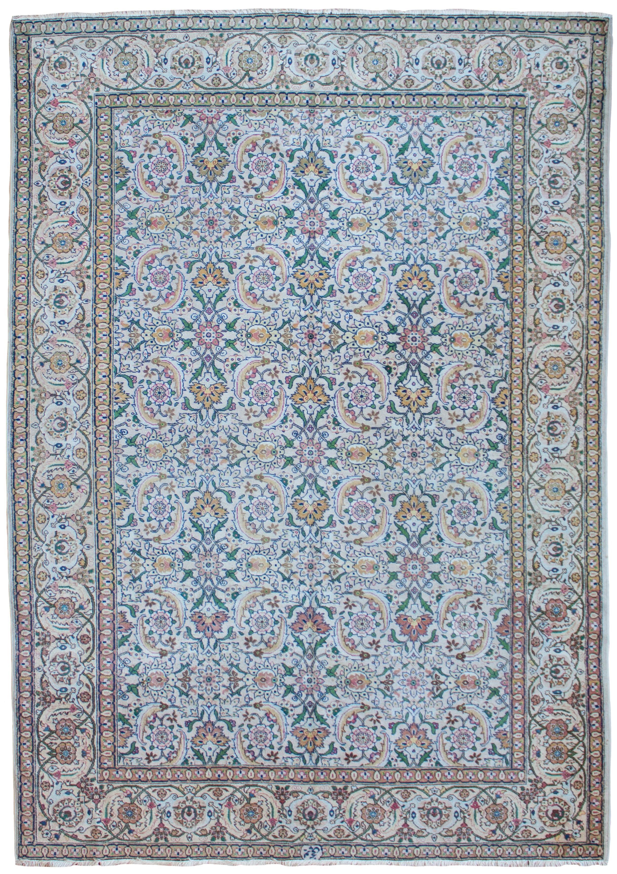 old tabriz carpet persian circa 1930