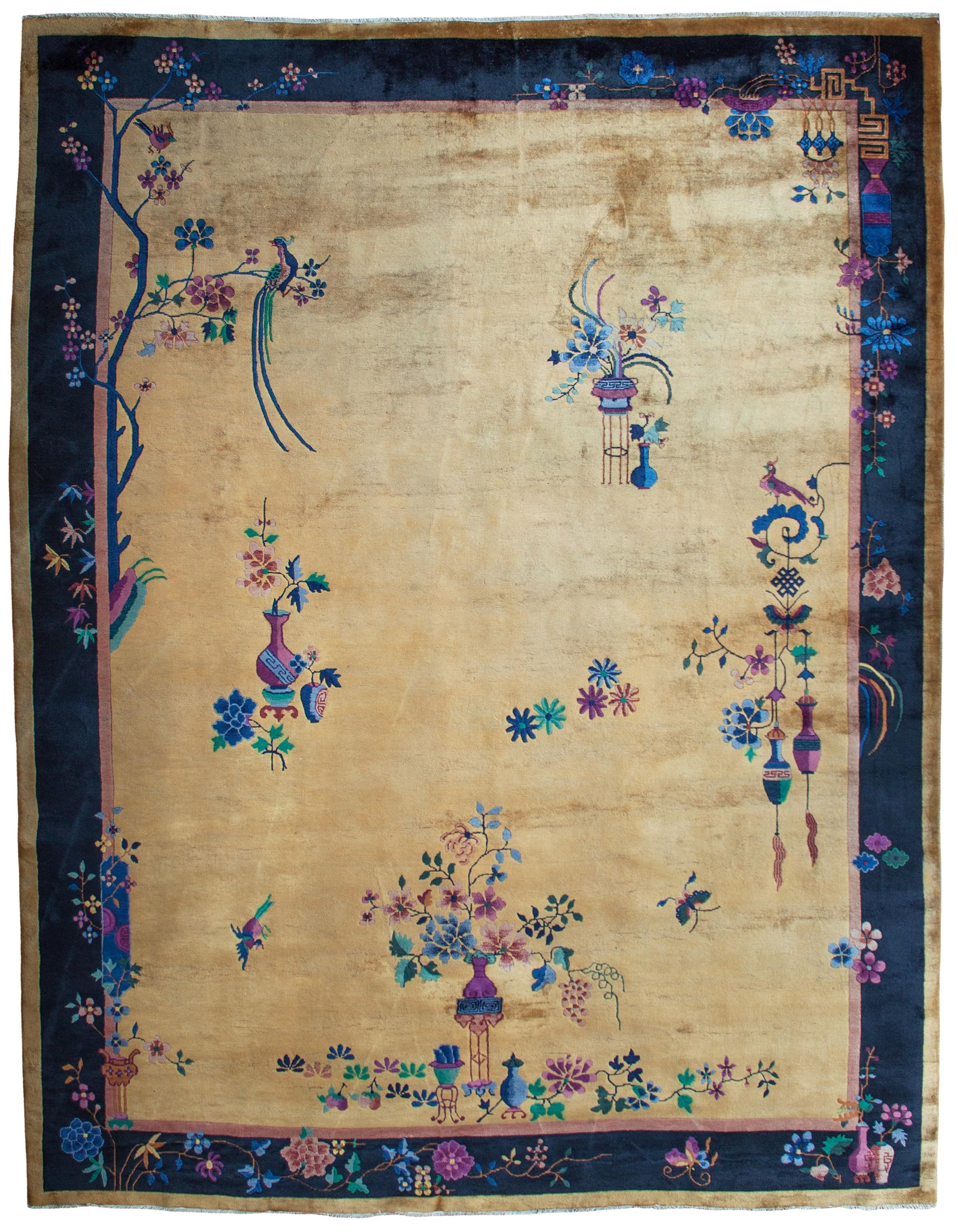 art deco chinese carpet