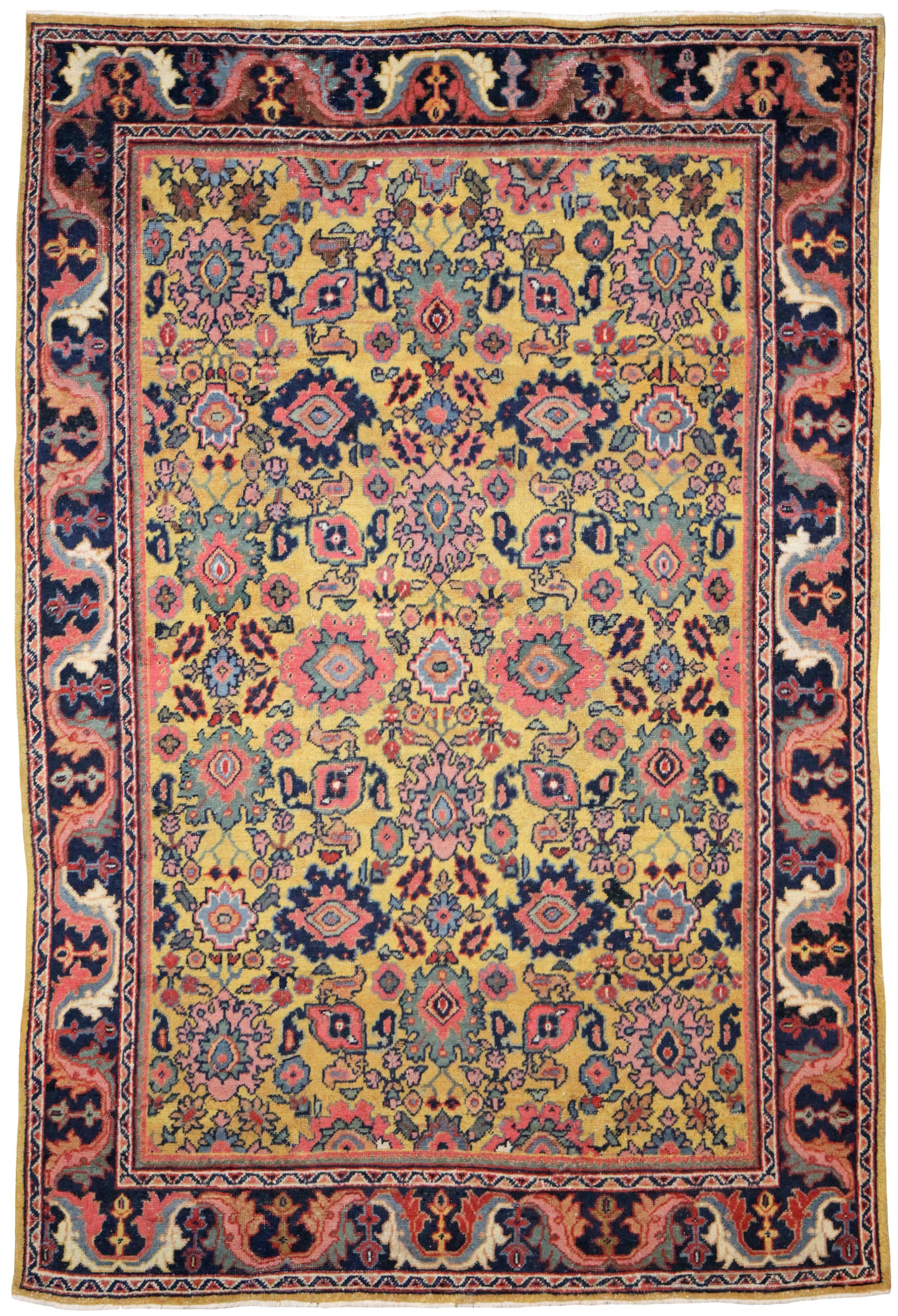 antique mahal rug persian