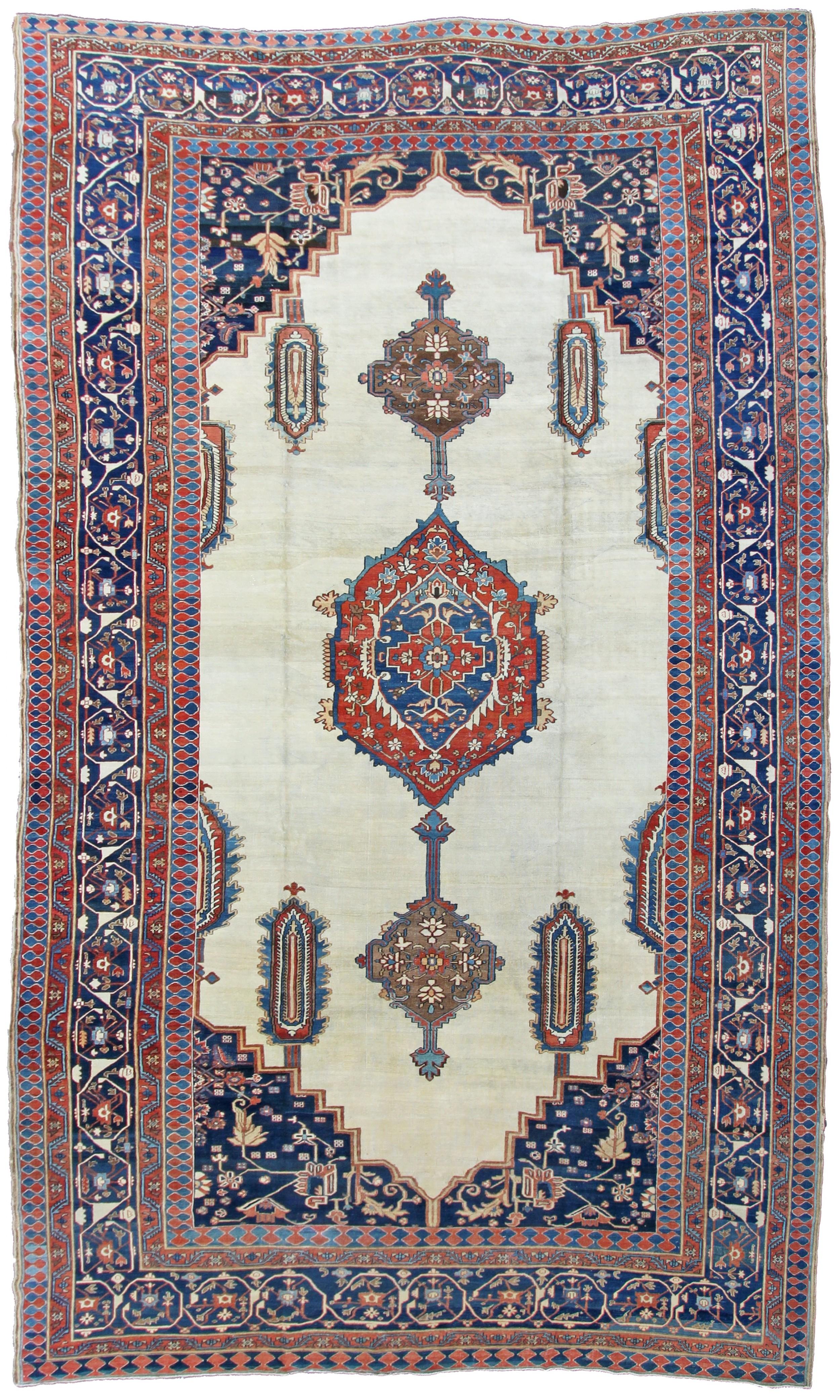large antique bakshaish carpet persia
