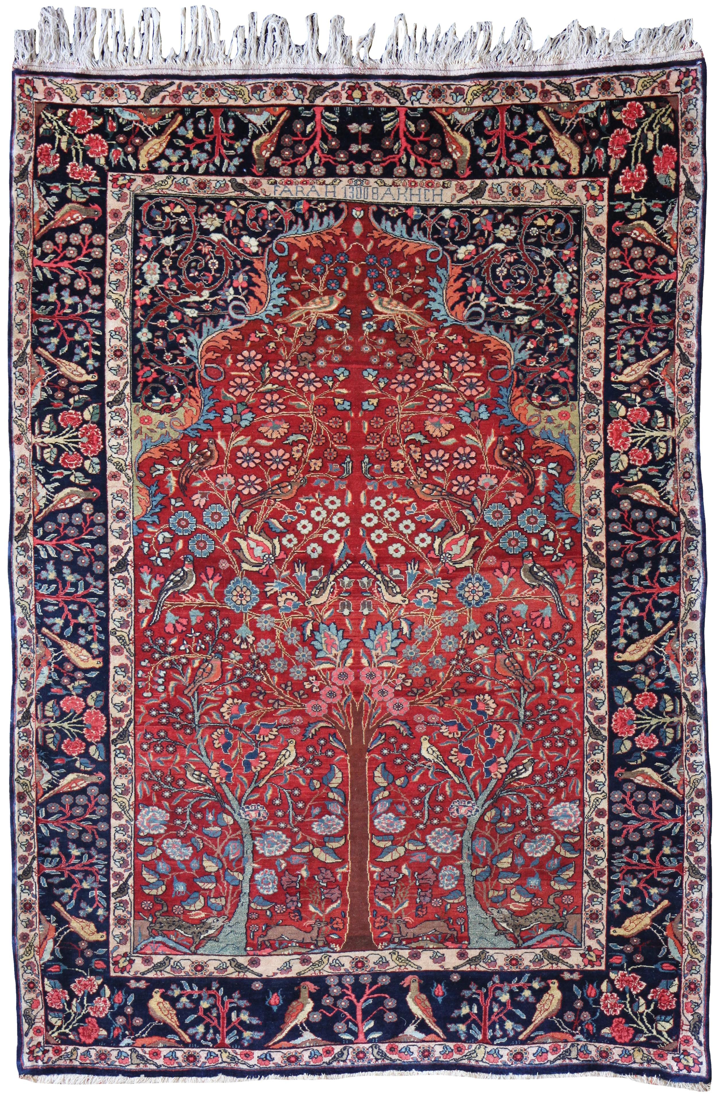antique bidjar rug persia