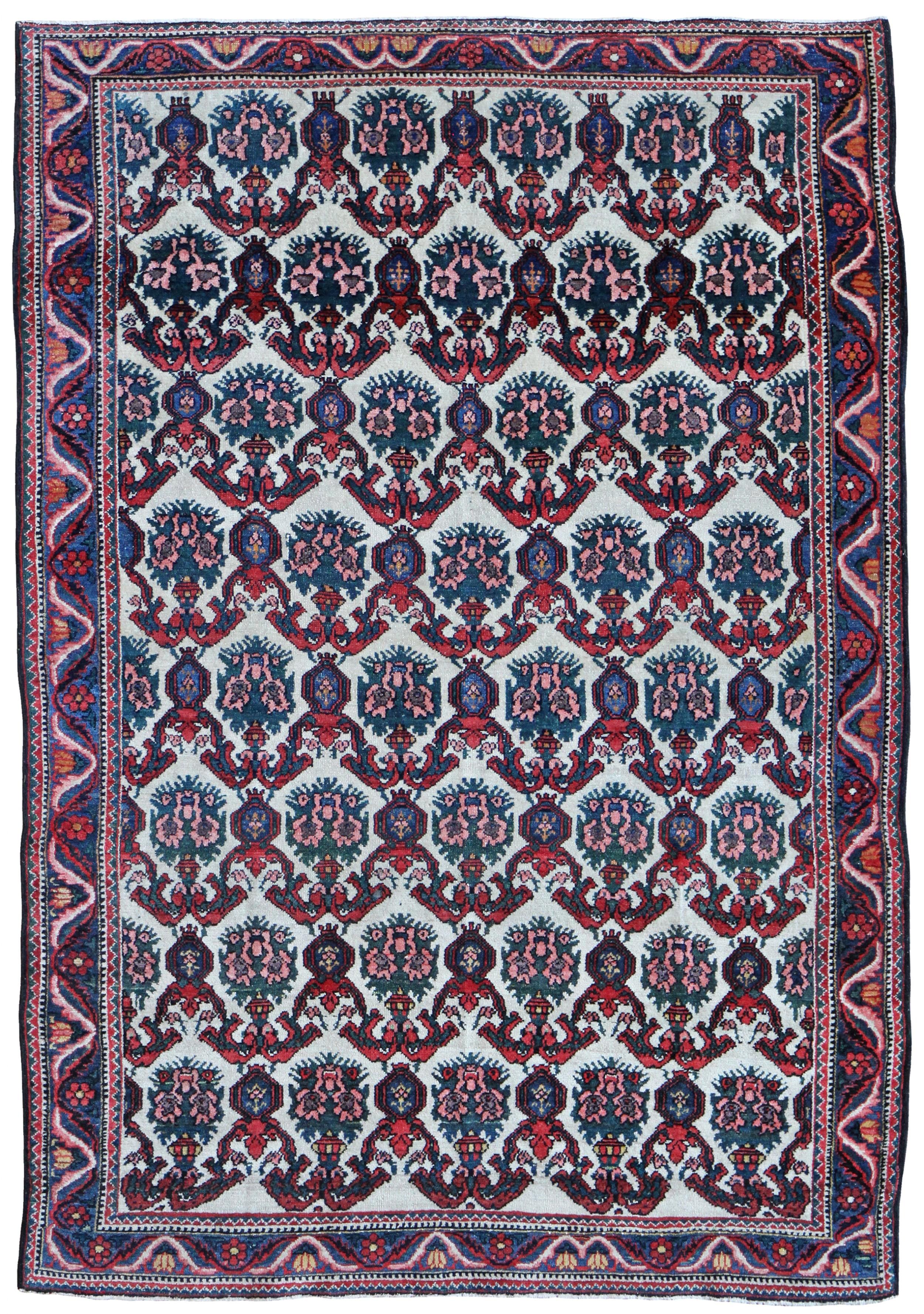 antique baktiari rug persia
