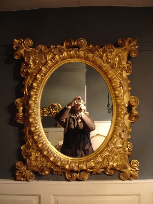 19th century italian baroque mirror 66213 for Italian baroque mirror