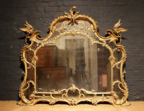 A Magnificent 19th Century Antique Carved And Gilt Wood