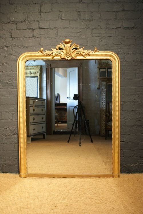 Mantle Mirror French Mantle Mirror With