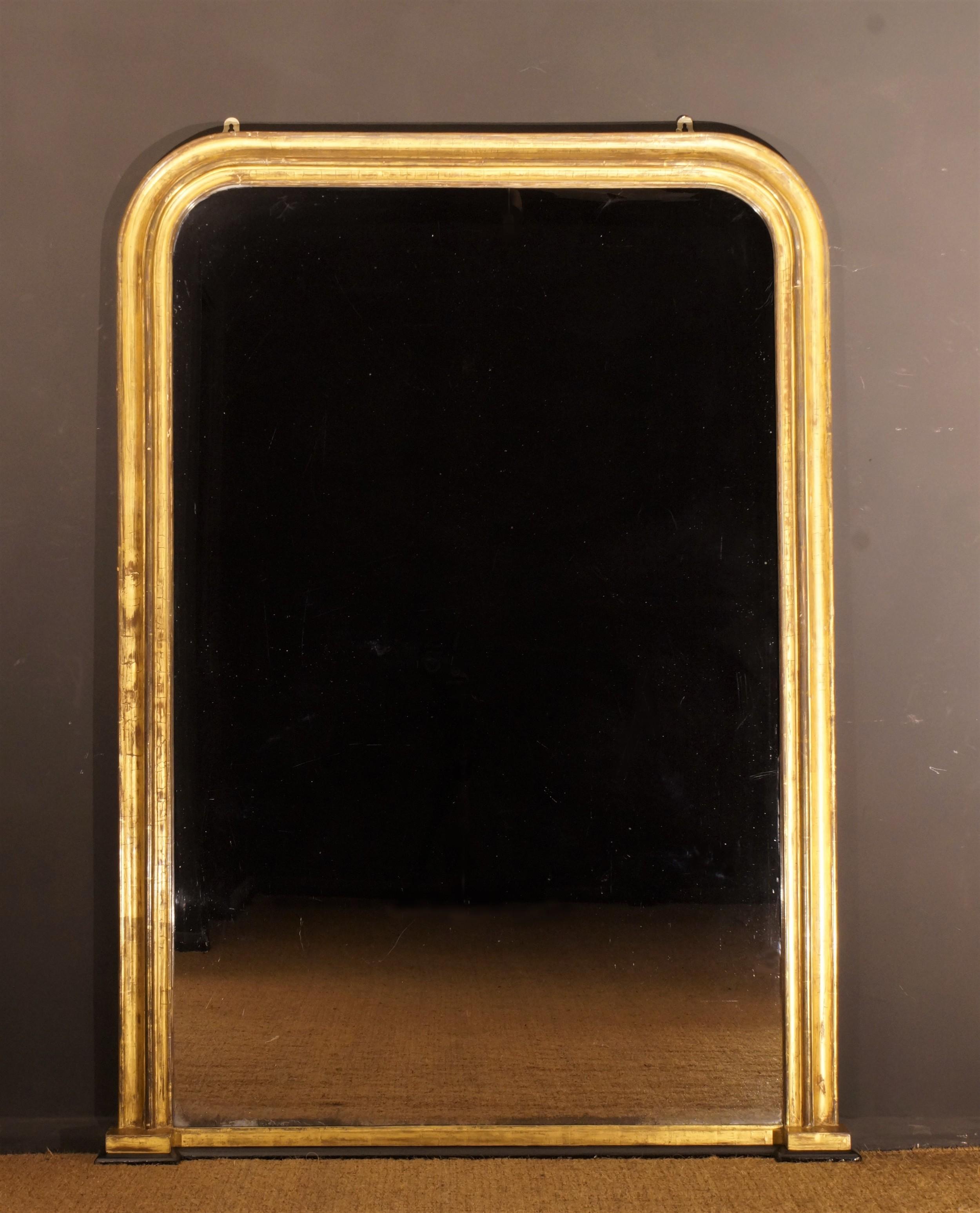 large 19th century giltwood mirror circa 1850