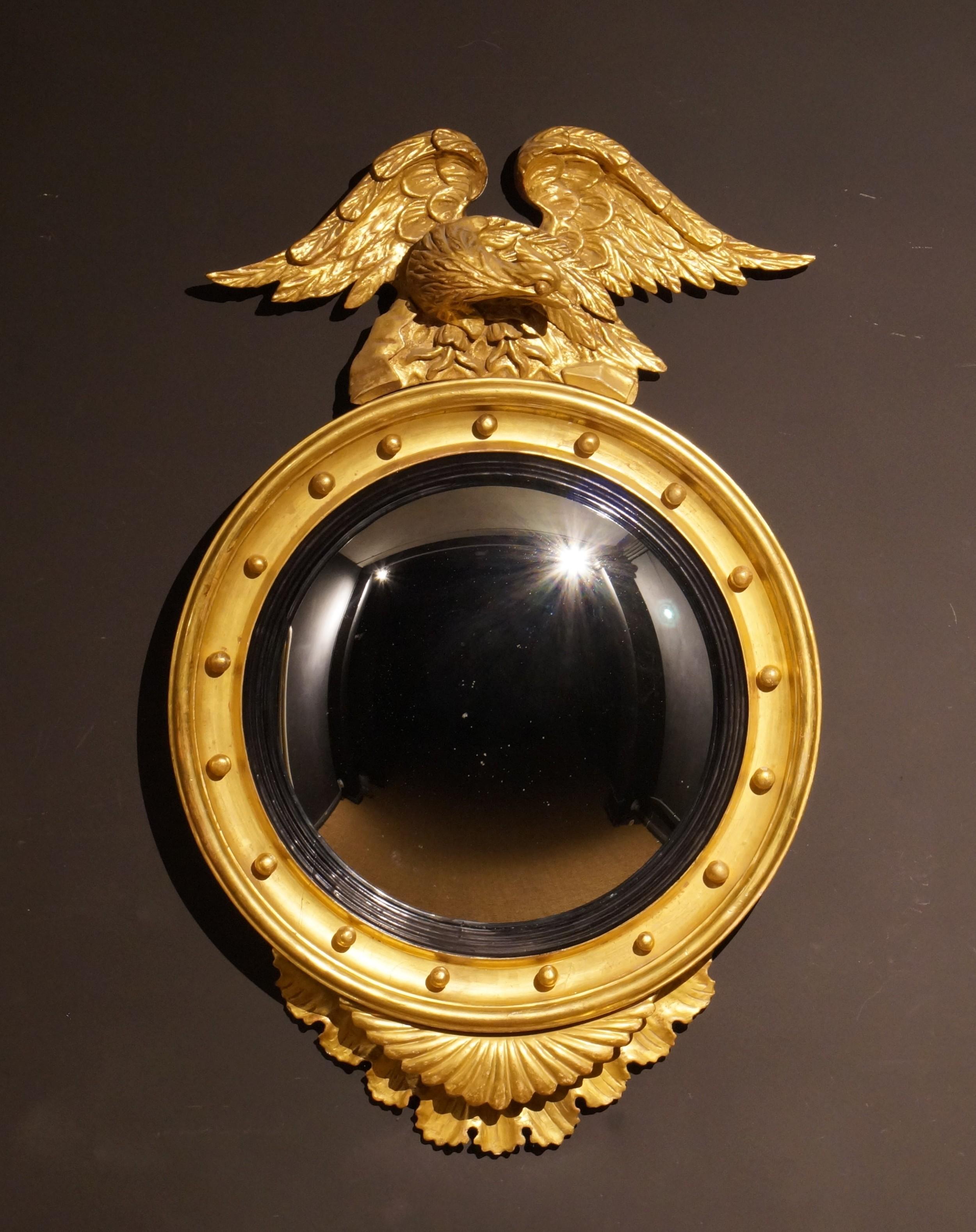 william iv giltwood convex mirror circa 1835