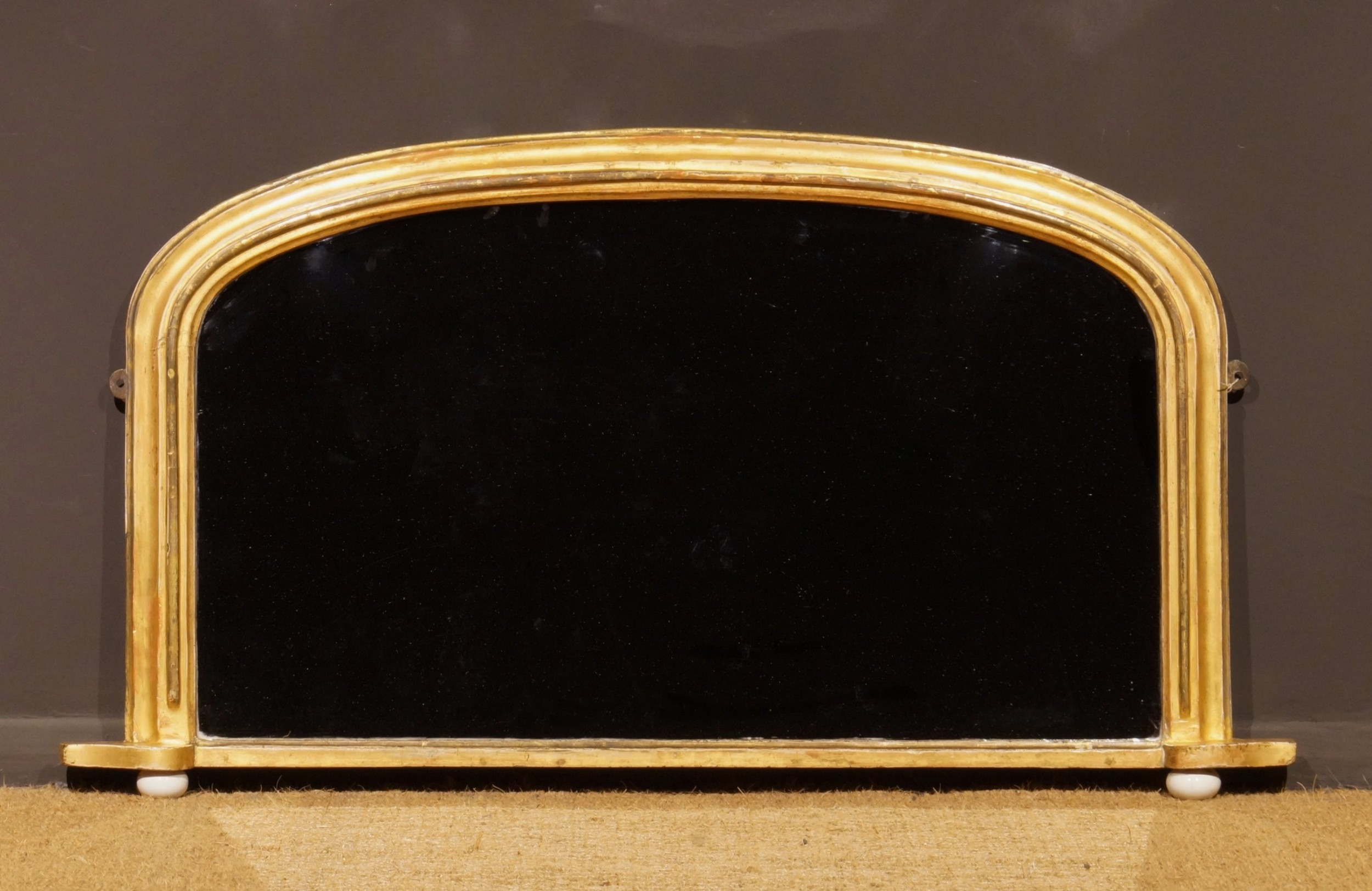 small 19th century giltwood arch top mirror circa 1850