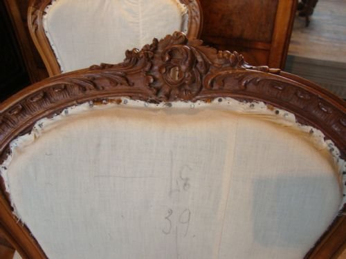 french louis xv1 style set of 4 salon chairs - photo angle #3