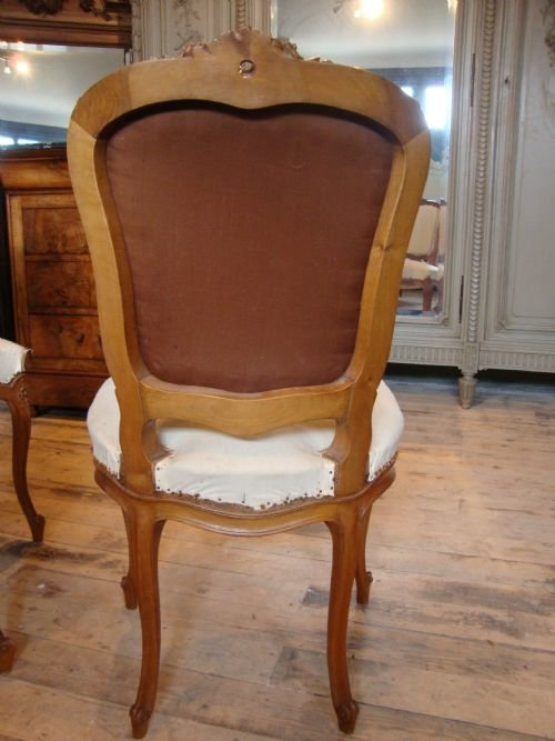 french louis xv1 style set of 4 salon chairs - photo angle #4