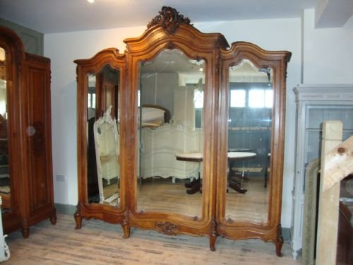 French Louis Xv Style Triple Armoire