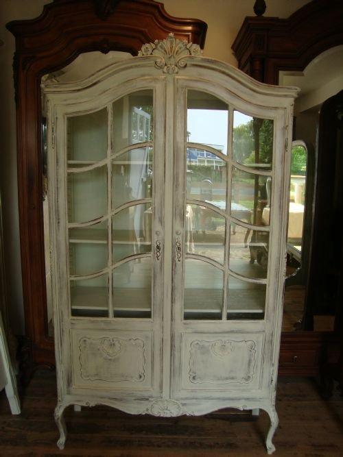 Attirant French Vitrine Display Cabinet