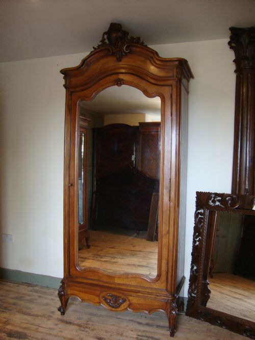 French Louis Xv Style Single Door Armoire