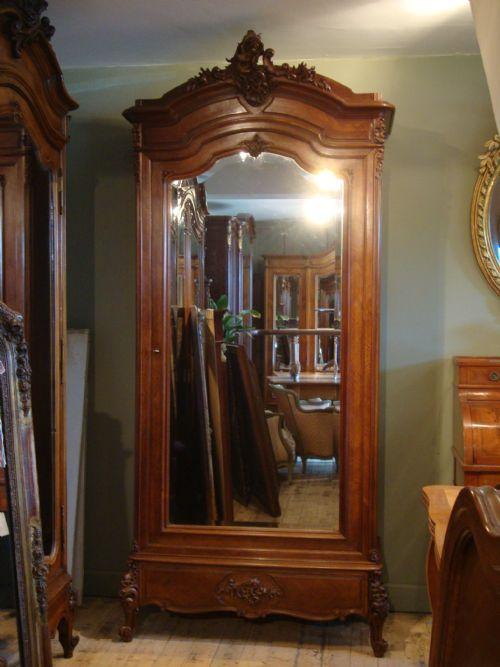 French Louis Xv Style Walnut Single Door Armoire