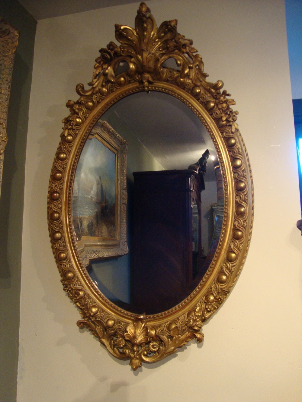 French classic style gilded mirror 256070 for Church style mirrors