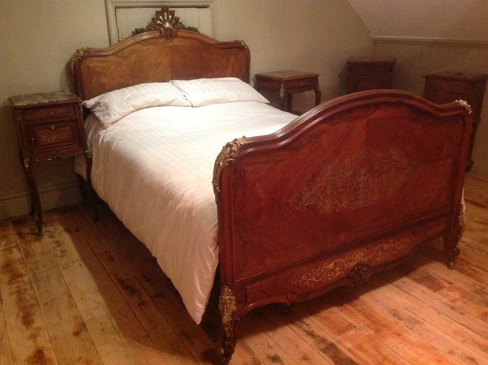 french louis iv rosewood double bed