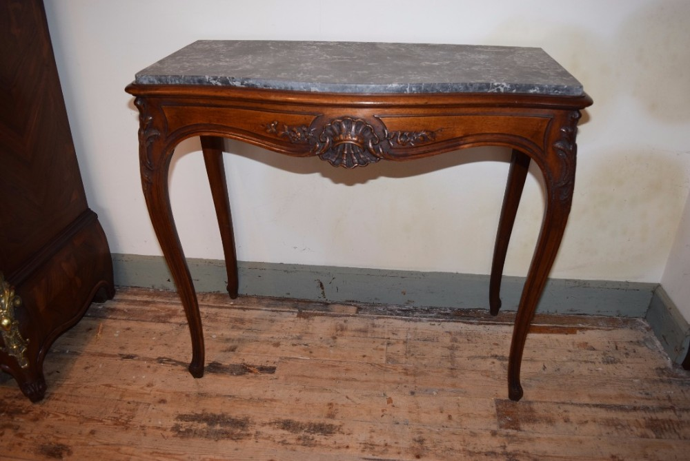 side table marble top louis xv style
