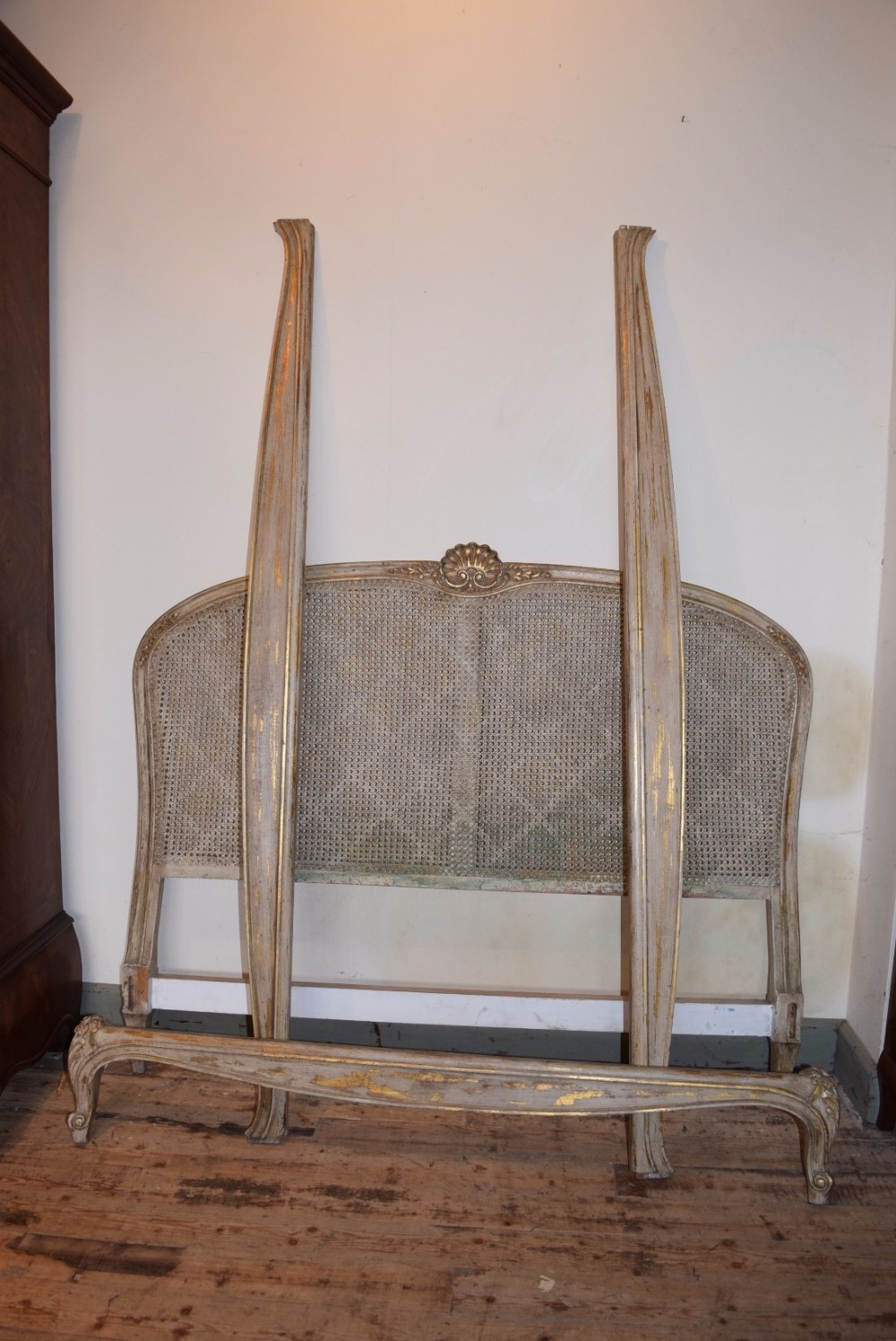 louis xv style king size caned bed