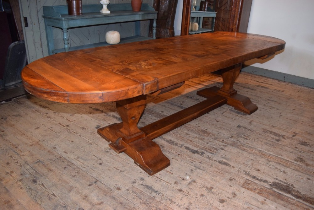 solid elm refectory table