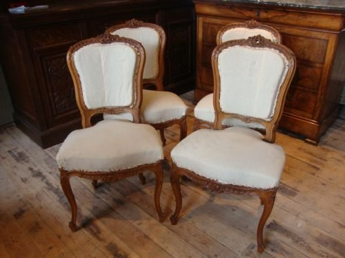 french louis xv1 style set of 4 salon chairs