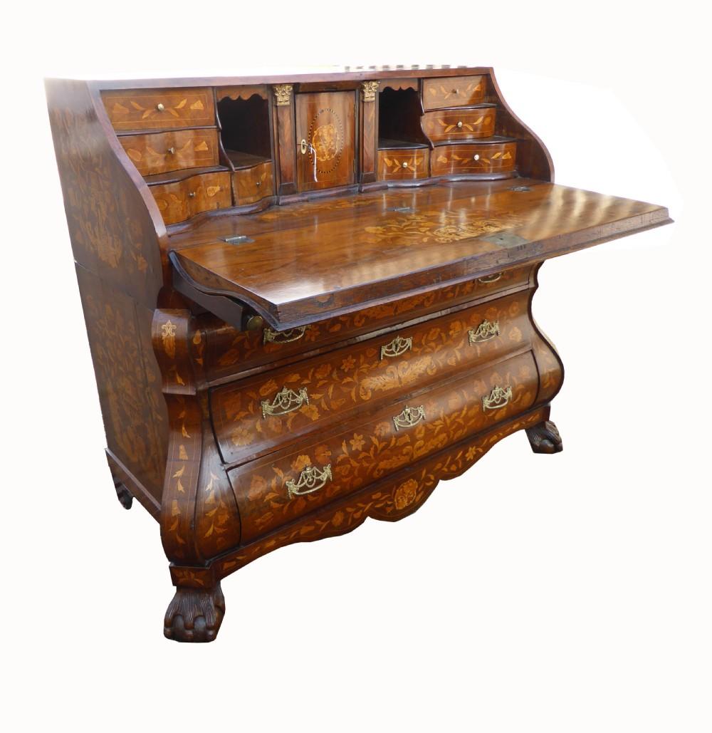 18th century dutch marquetry bureau