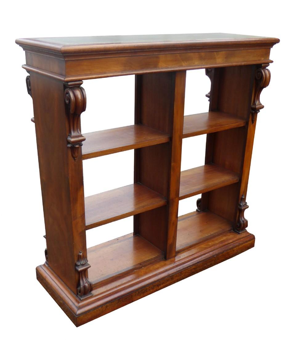 unusual victorian mahogany partners bookcase
