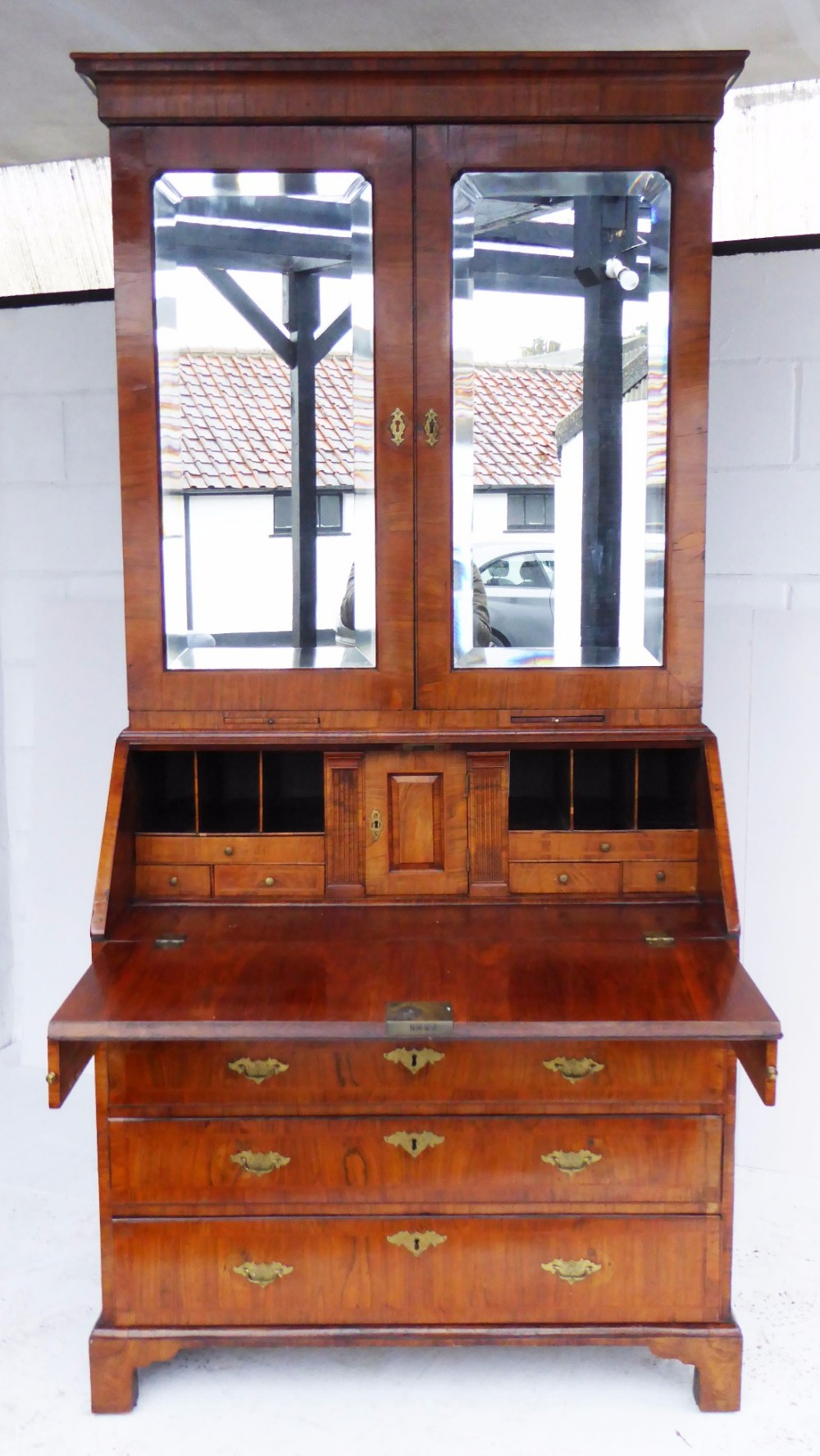 george ii figured walnut bureau bookcase circa 1730