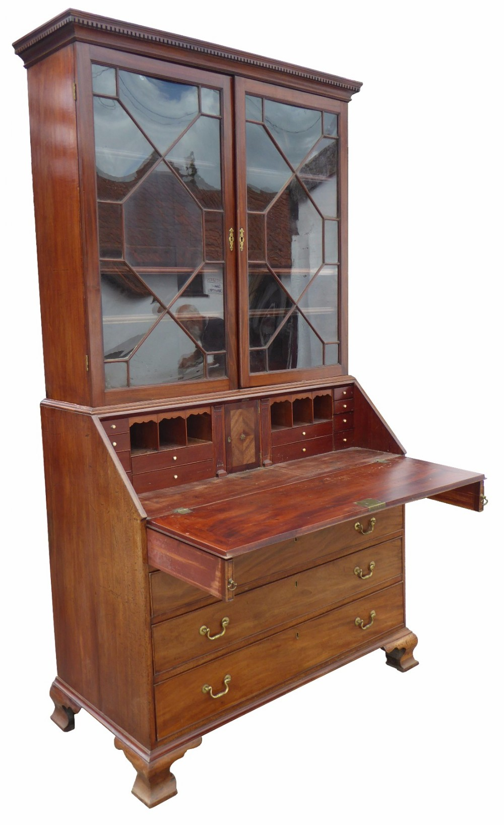 large mahogany george iii bureau bookcase