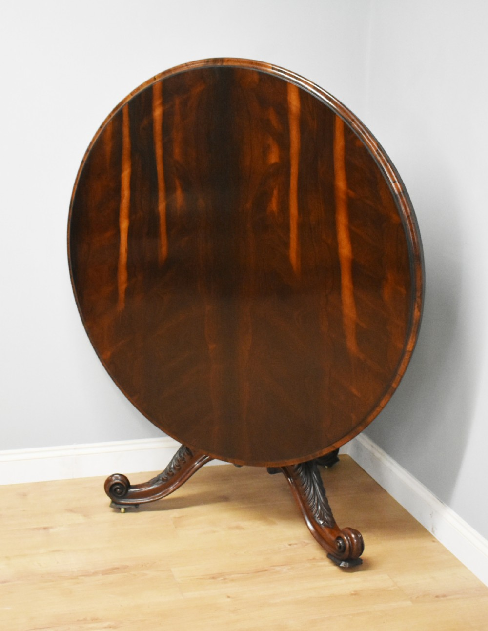 early victorian rosewood circular dining table