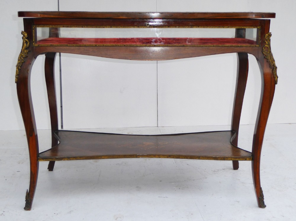 19th century french rosewood bijouterie table