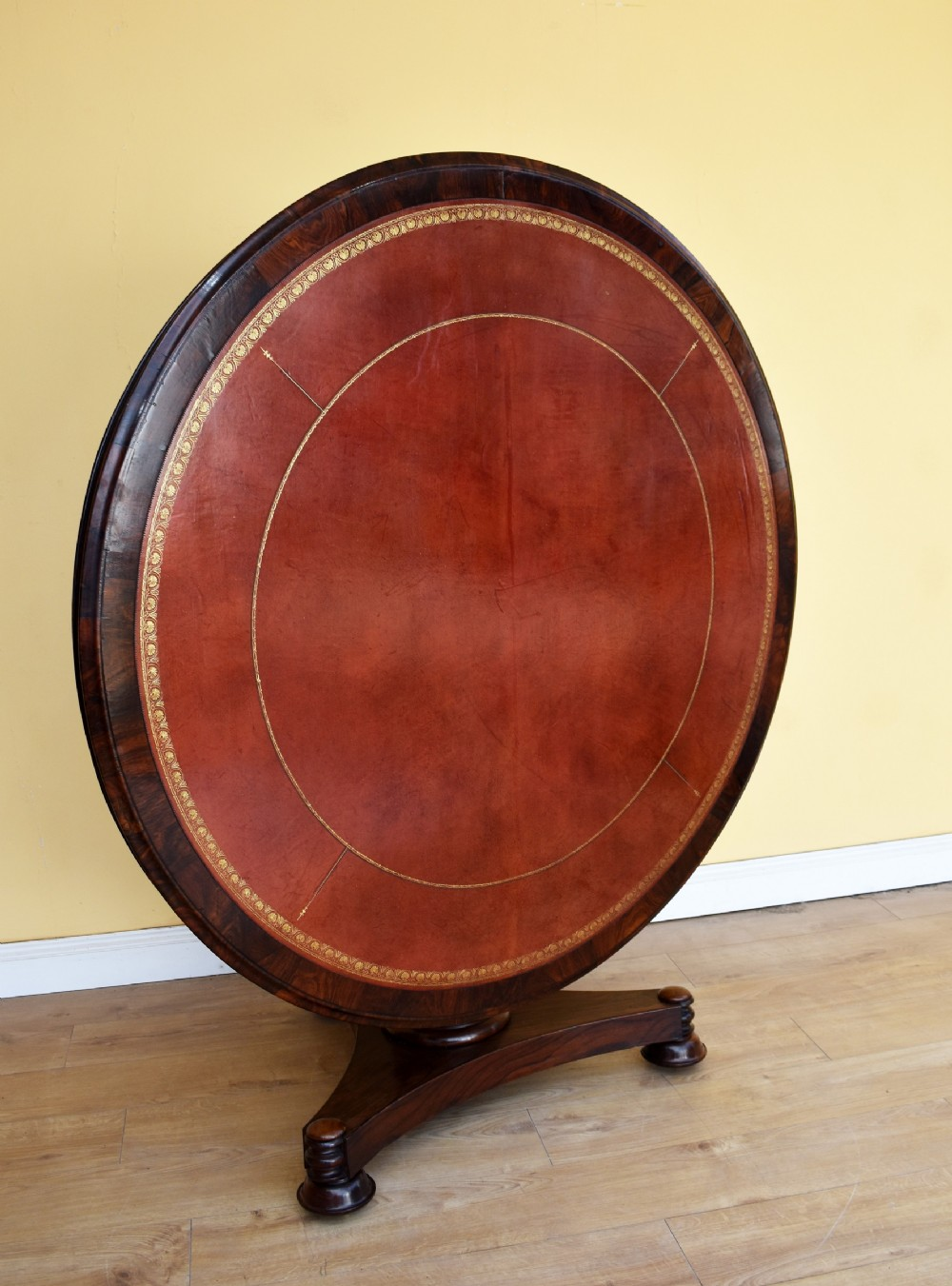 william iv rosewood circular library table