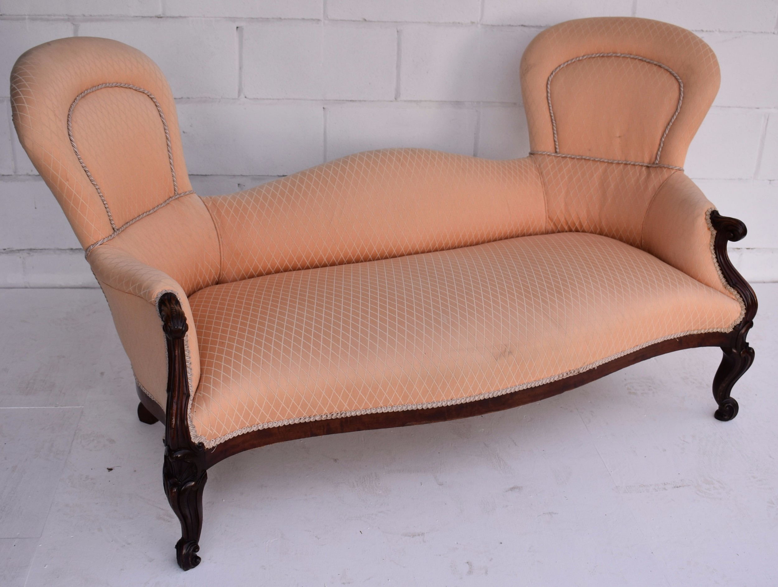 victorian double end sofa