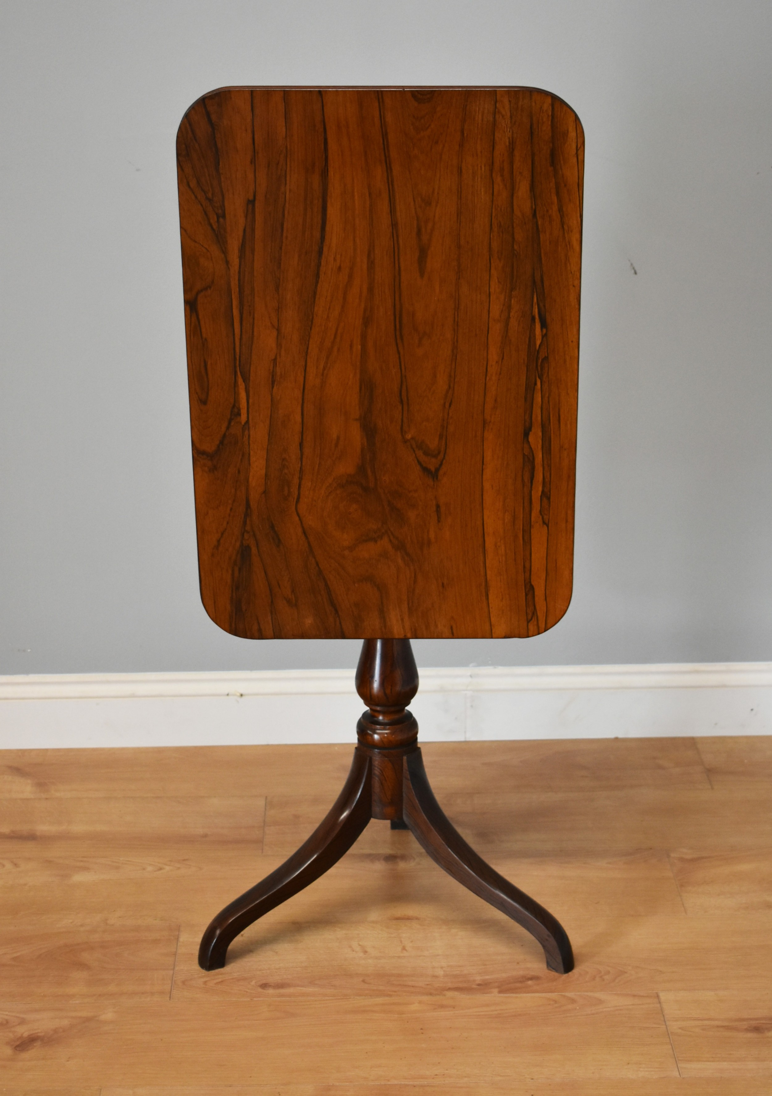 early 19th century rosewood snap top table