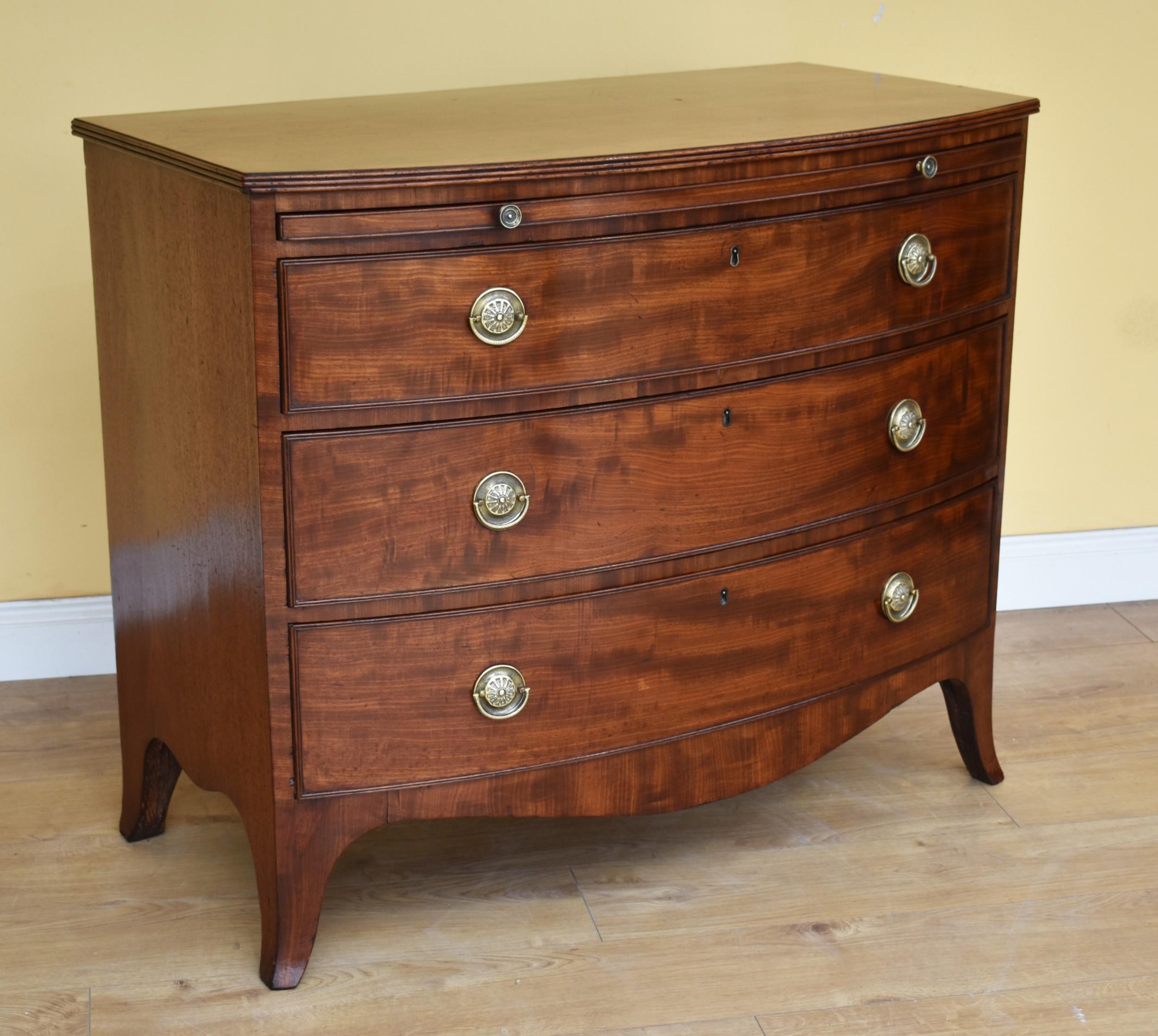 19th century regency mahogany bow front chest