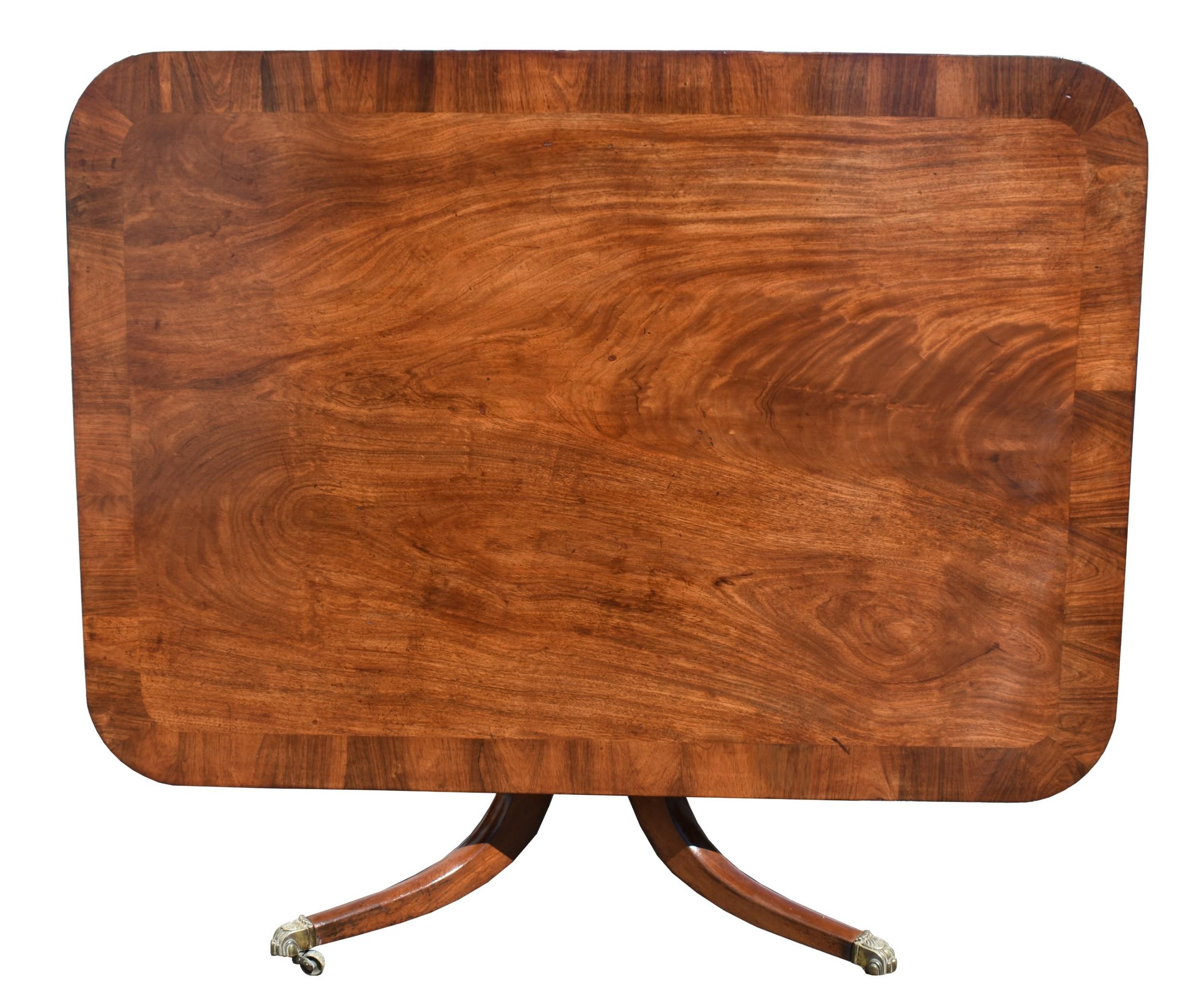 19th century regency mahogany breakfast table