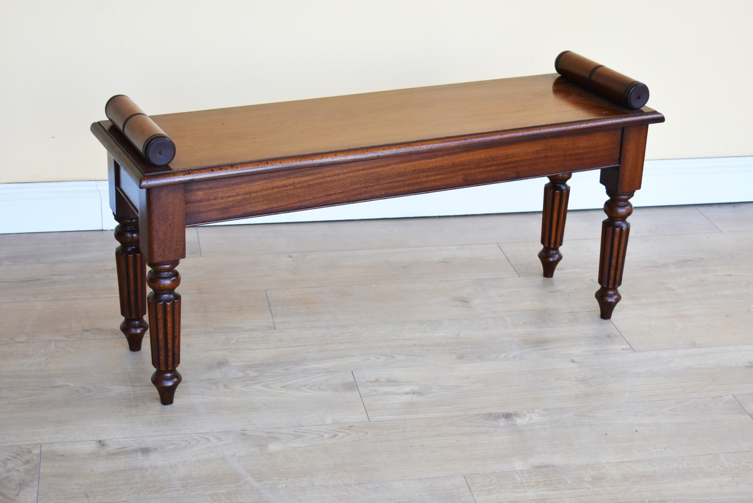 victorian mahogany window seat