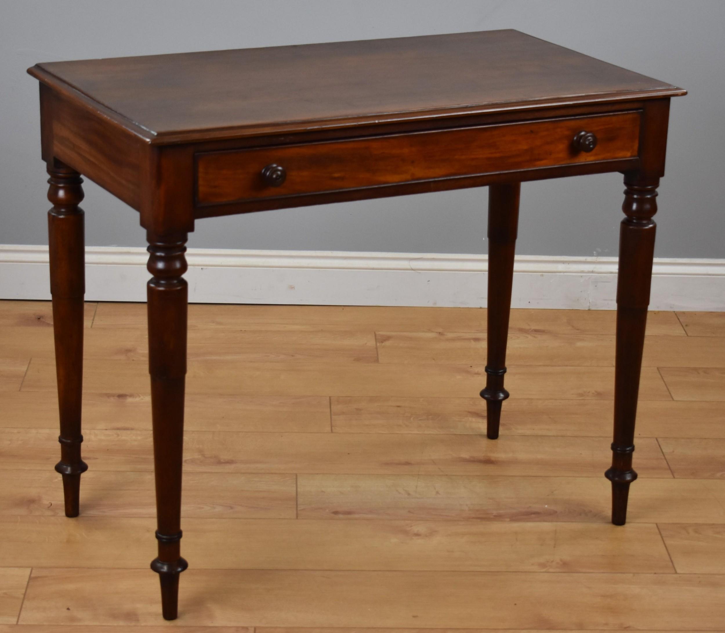 early victorian mahogany hallside table