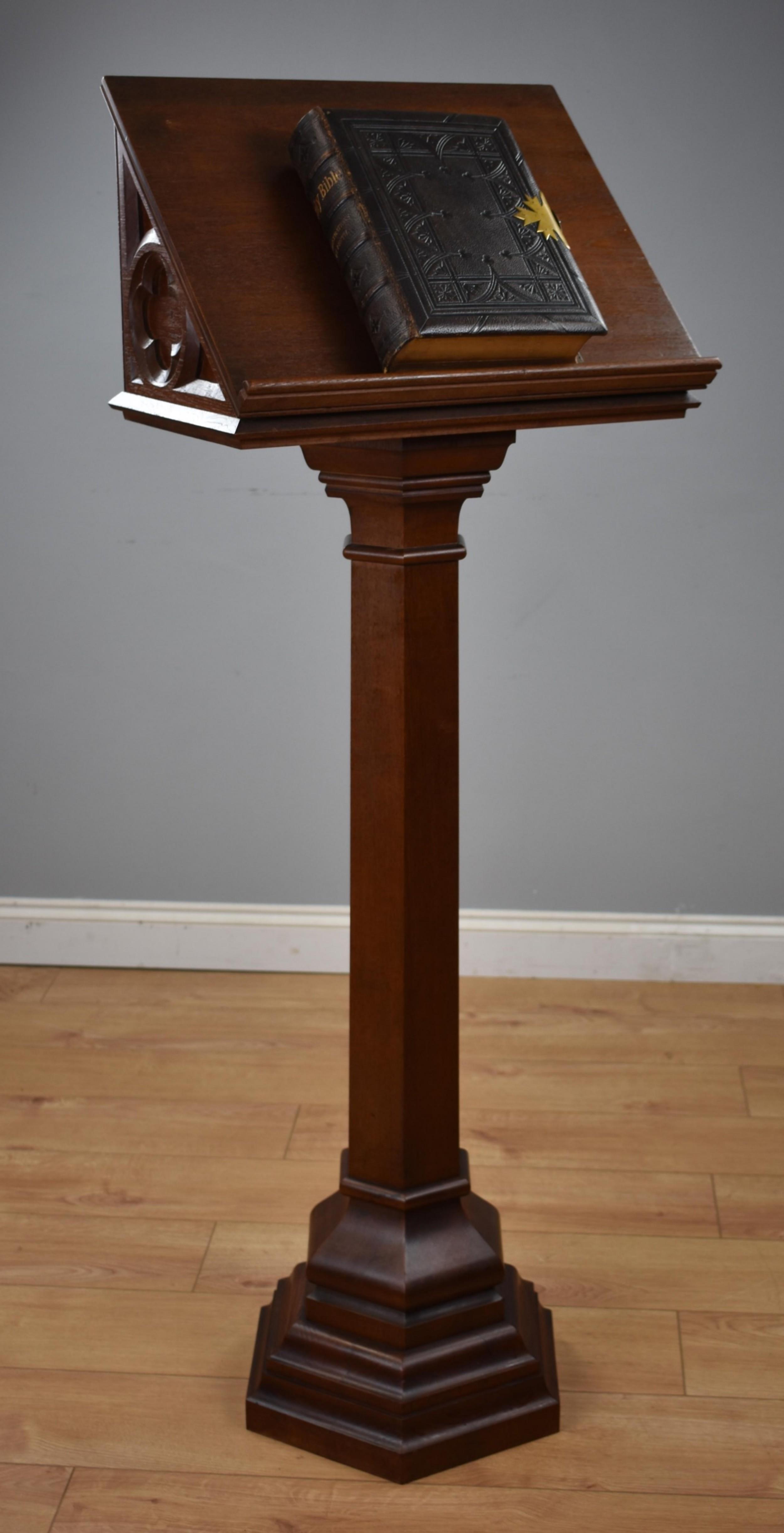victorian oak lectern