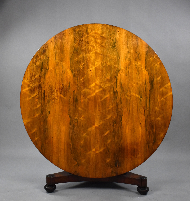 large william iv rosewood circular breakfast table