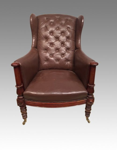 william iv mahogany library chair