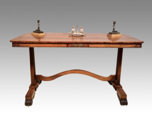 regency pale rosewood centre table