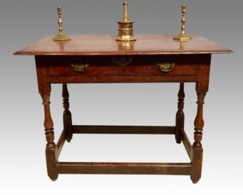 queen anne welsh oak side table
