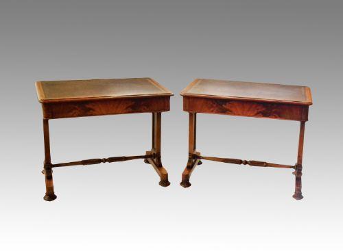 pair of william iv mahogany writing tables