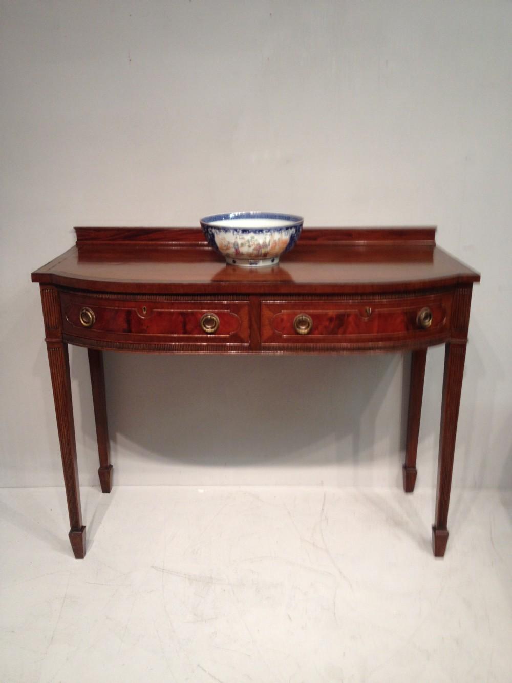 antique mahogany side table