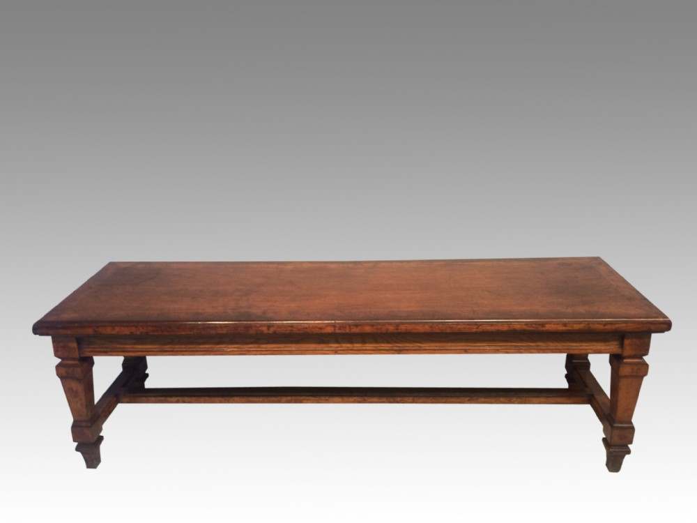 antique oak hall bench