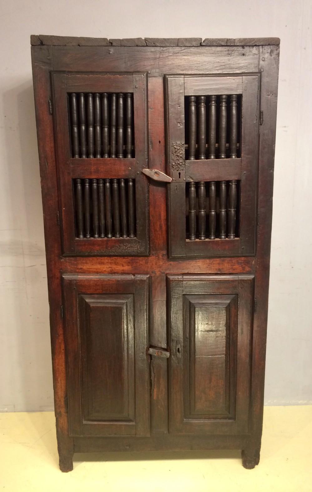 18th century french walnut food cupboard